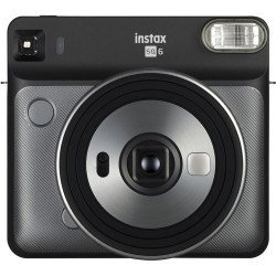 фотоапарат Fujifilm Instax Square SQ6 (Graphite Gray) + фото филм Fujifilm Instax Square моментален филм - черна рамка (10 л.) + албум Fujifilm Instax SQ Album (Rose Golden)