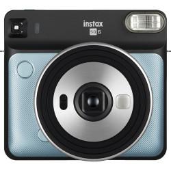 Instant Camera Fujifilm Instax Square SQ6 (Aqua Blue) + Film Fujifilm Instax Square Instant Film - Black Frame (10 l) + Album Fujifilm Instax SQ Album Rose Golden