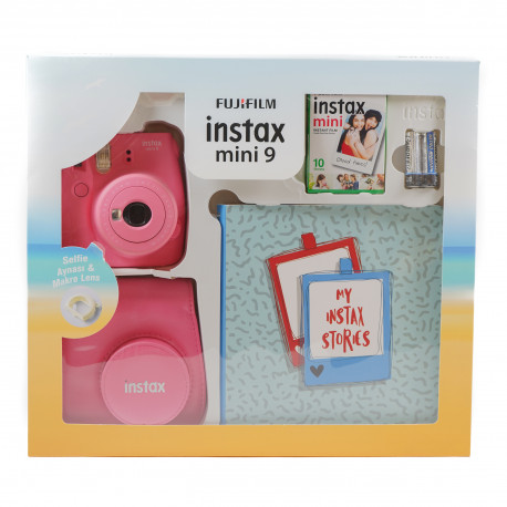 FUJIFILM INSTAX MINI 9 BOX FLAMINGO PINK