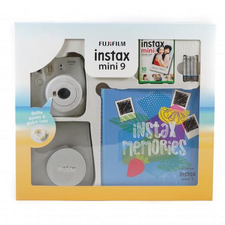 Fujifilm instax mini 9 Instant Camera Smokey White Premium Kit