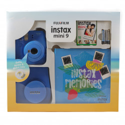 Fujifilm instax mini 9 Instant Camera Cobalt Blue Premium Kit