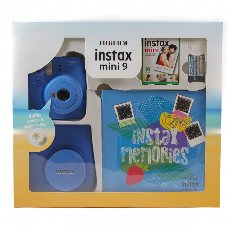 FUJIFILM INSTAX MINI 9 BOX COBALT BLUE