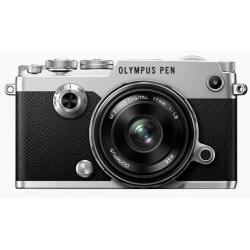 фотоапарат Olympus PEN-F (сребрист) + обектив Olympus MFT 17mm f/1.8 MSC + обектив Olympus MFT 45mm f/1.8 MSC