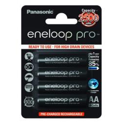 Battery Panasonic Eneloop Pro AA 4 pcs. 2500mAh (BK-3HCDE / 4BE)