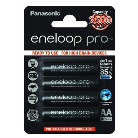 Panasonic Eneloop Pro AA 4 pcs. 2500mAh (BK-3HCDE / 4BE)
