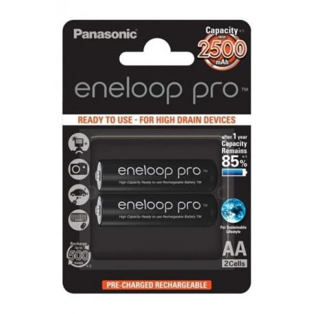 Panasonic Eneloop Pro AA 2 бр. 2500mAh (BK-3HCDE/2BE)