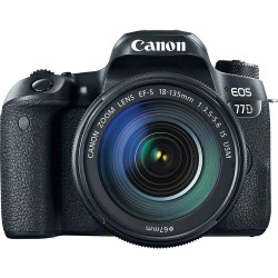 DSLR camera Canon EOS 77D + Lens Canon EF-S 18-135mm IS Nano