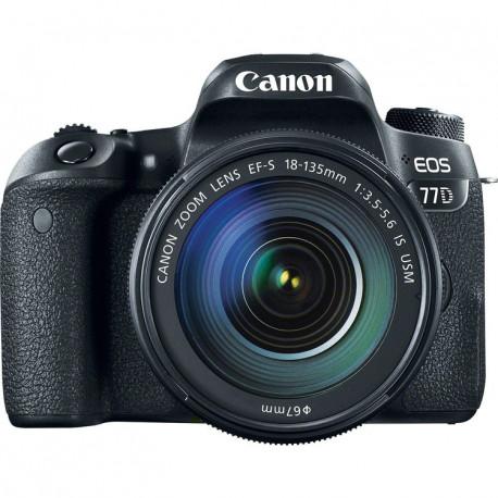 DSLR camera Canon EOS 77D + Lens Canon EF-S 18-135mm IS Nano