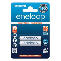 Battery Panasonic Eneloop AAA 2 pcs. 750mAh (BK-4MCCE / 2BE)