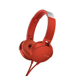 Earphones Sony MDR-XB550AP Extra Bass (Red)