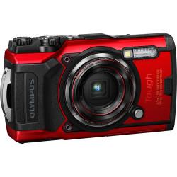 фотоапарат Olympus TG-6 (червен) + аксесоар Olympus CHS-09 Floating Strap (червен)