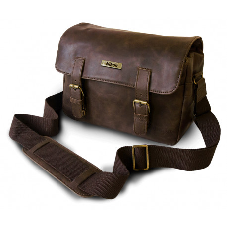 NIKON LEATHER MESSENGER BAG CS-P14