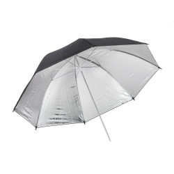 Umbrella Quadralite 91 cm silver reflective umbrella