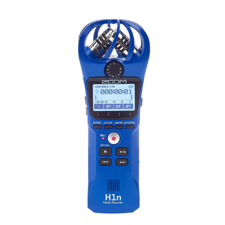 ZOOM H1N HANDY RECORDER LIMITED EDITION BLUE