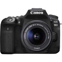 DSLR camera Canon EOS 90D + Lens Canon EF-S 18-55mm IS STM + Lens Canon 75-300mm f/4-5.6 USM