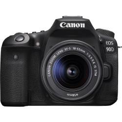 DSLR camera Canon EOS 90D + Lens Canon EF-S 18-55mm IS STM + Lens Canon EF 50mm f/1.8 STM