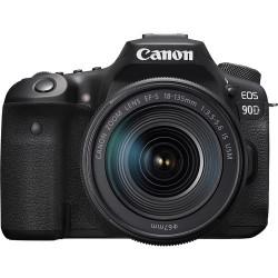 фотоапарат Canon EOS 90D + обектив Canon EF-S 18-135mm IS Nano + батерия Canon LP-E6NH Battery Pack