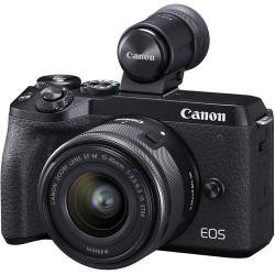фотоапарат Canon EOS M6 II + обектив Canon EF-M 15-45mm f/3.5-6.3 IS STM + обектив Canon EF-M 55-200mm f/4.5-6.3 IS STM + карта Lexar 32GB Professional UHS-I SDHC Memory Card (U3)