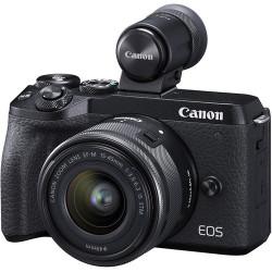 фотоапарат Canon EOS M6 II + обектив Canon EF-M 15-45mm f/3.5-6.3 IS STM + статив Joby Gorillapod 1K Kit мини статив + зарядно у-во Canon CA-PS700 Compact AC Power Adapter + зарядно у-во Canon DR-E17