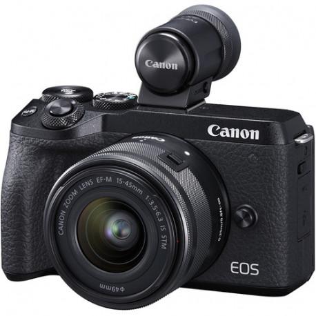 CANON EOS M6 MARK II BLACK+15-45MM+EVF KIT