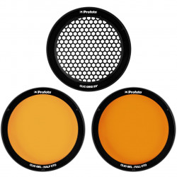Profoto Clic Grid & Gel Kit - set of color gels and honeycomb for Profoto C1 Plus, A1, A1X