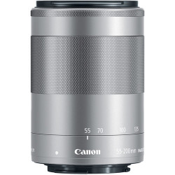 Canon EF-M 55-200mm f/4.5-6.3 IS STM (сребрист)
