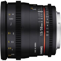 обектив Samyang 50mm T/1.5 VDSLR - Sony E