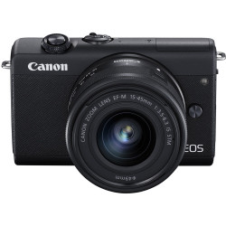 фотоапарат Canon EOS M200 + обектив Canon EF-M 15-45mm + статив Canon HG-100TBR Tripod Grip