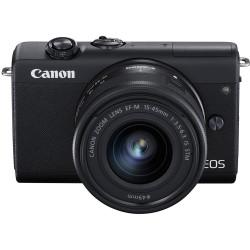 фотоапарат Canon EOS M200 + обектив Canon EF-M 15-45mm + видеоустройство Atomos Connect 4K + статив Joby Gorillapod 1K Kit мини статив + зарядно у-во Canon DR-E12 DC Coupler адаптер