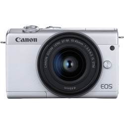 фотоапарат Canon EOS M200 (бял) + обектив Canon EF-M 15-45mm + обектив Canon EF-M 22mm f/2 STM
