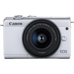 фотоапарат Canon EOS M200 (бял) + обектив Canon EF-M 15-45mm + статив Canon HG-100TBR Tripod Grip