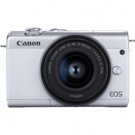 Canon EOS M200 (бял) + обектив Canon EF-M 15-45mm