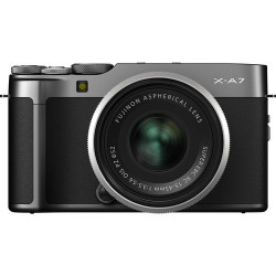 фотоапарат Fujifilm X-A7 (тъмно сив) + обектив Fujifilm XC 15-45mm