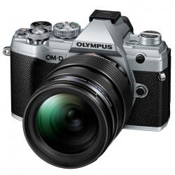 фотоапарат Olympus OM-D E-M5 Mark III (сребрист) + обектив Olympus MFT 12-40mm f/2.8 PRO + аудио рекордер Olympus LS-P1 LineArt PCM Recorder Video Kit