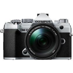 фотоапарат Olympus OM-D E-M5 Mark III (сребрист) + обектив Olympus M.Zuiko ED 14-150mm f/4-5.6 II + обектив Olympus 25mm f/1.8 MSC