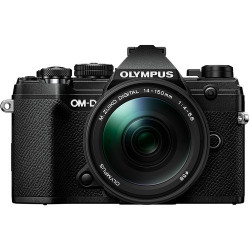 фотоапарат Olympus OM-D E-M5 Mark III (черен) + обектив Olympus M.Zuiko ED 14-150mm f/4-5.6 II + статив Joby Gorillapod 1K Kit мини статив + батерия Olympus JUPIO BLS-50 BATTERY