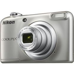 Camera Nikon CoolPix A10 (silver) + Memory card Nikon SDHC 4GB CLASS 6 + Charger GP GP CHARGER + 2AAX2000MAH