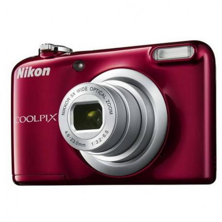 фотоапарат Nikon CoolPix A10 (червен) + карта Nikon SDHC 4GB CLASS 6 + зарядно у-во GP Charger + 2xAA 2000 mAh