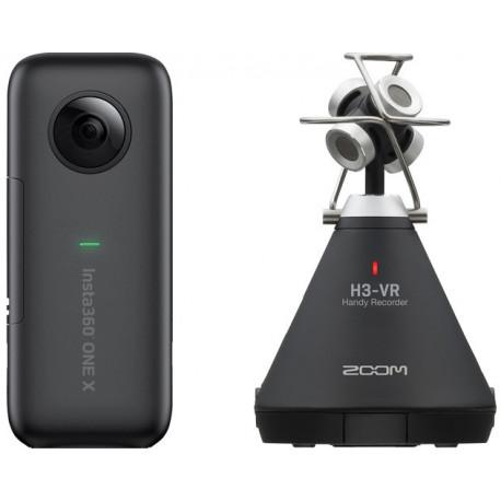 INSTA360 ONE X + ZOOM H3-VR 360° VR VIDEO AUDIO KIT