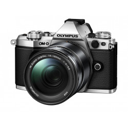 фотоапарат Olympus OM-D E-M5 MARK II (сребрист) + обектив Olympus M.Zuiko ED 14-150mm f/4-5.6 II + обектив Olympus MFT 45mm f/1.8 MSC