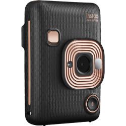 фотоапарат за моментални снимки Fujifilm Instax Mini LiPlay (Elegant Black) + фото филм Fujifilm Instax Mini ISO 800 Instant Film 10 бр.