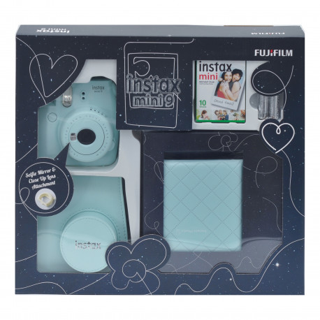 Fujifilm instax mini 9 Instant Camera Ice Blue Premium Kit