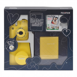 Fujifilm instax mini 9 Instant Camera Yellow Premium Kit