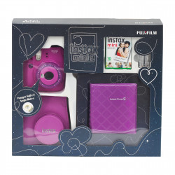 Fujifilm instax mini 9 Instant Camera Clear Purple Premium Kit