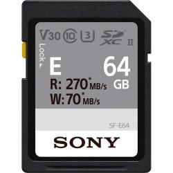 карта Sony SDXC 64GB UHS-II R:270MB/s W:70MB/s U3 V30 SF-E64/T1