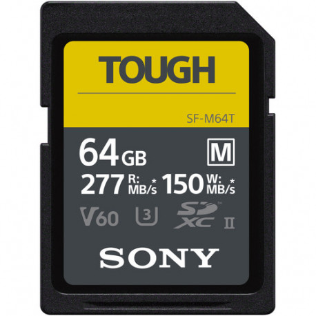 SONY TOUGH SDXC 64GB UHS-II R:277MB/S W:150MB/S U3 V60 SF-64MTG