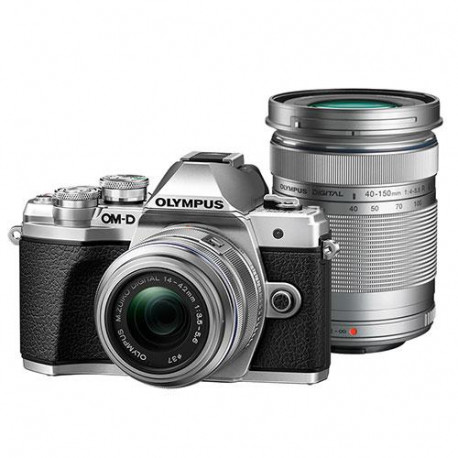 Camera Olympus E-M10 III (сребрист) + Lens Olympus MFT 14-42mm f/3.5-5.6 II R MSC + Lens Olympus MFT 40-150mm f/4-5.6 R MSC silver
