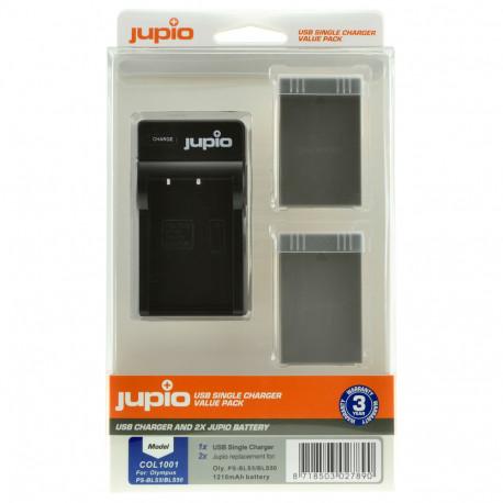JUPIO USB Charger + 2x BLS-50 Kit