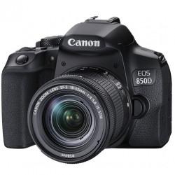 фотоапарат Canon EOS 850D + обектив Canon EF-S 18-135mm IS Nano + светкавица Canon 430 EX III-RT