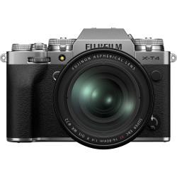 фотоапарат Fujifilm X-T4 (сребрист) + обектив Fujifilm Fujinon XF 16-80mm f/4 R OIS WR